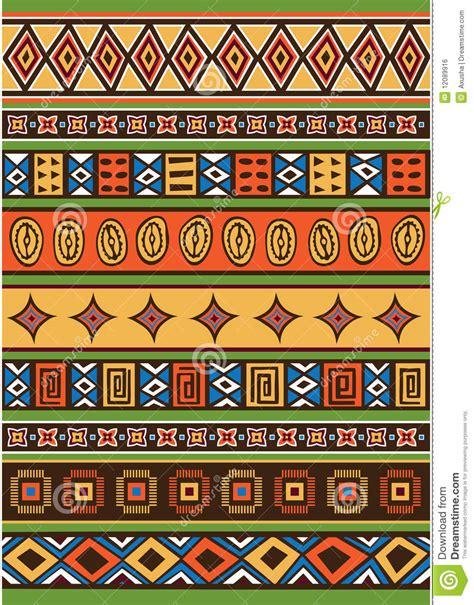 vector background ndebele artwork set of african pattern stock vector illustration of