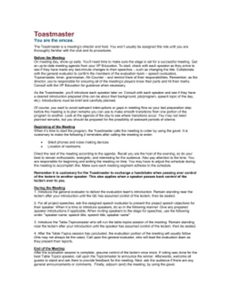 toastmaster biography form script for spring contest toastmasters district 57