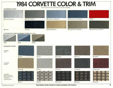 auto paint codes interior color codes corvette