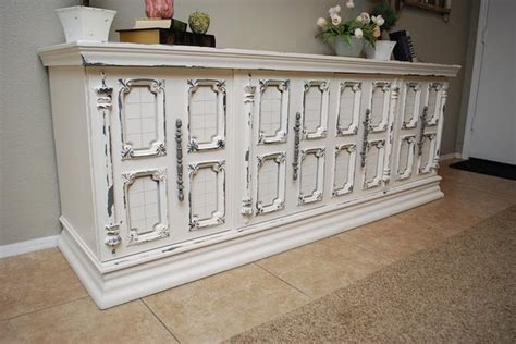 white and grey distressed buffet fave projects repost