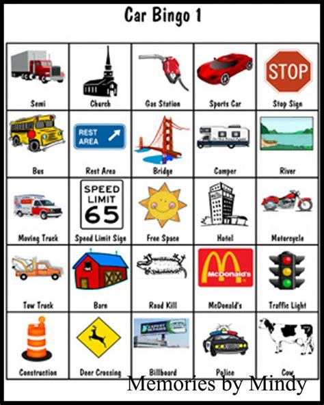 printable car games uk the 25 best ideas about car bingo on pinterest road