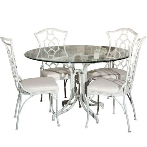 bamboo glass table and chairs dining set metal faux bamboo chairs and glass table