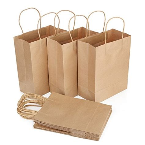 Brown Paper Craft Bags - brown paper bags with handles craft bags 8 25 inches