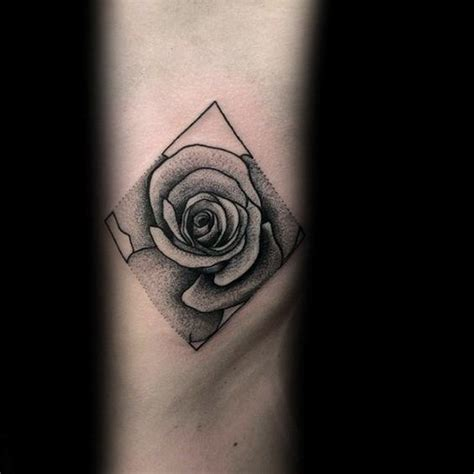 geometric rose tattoo 40 geometric designs for flower ink ideas