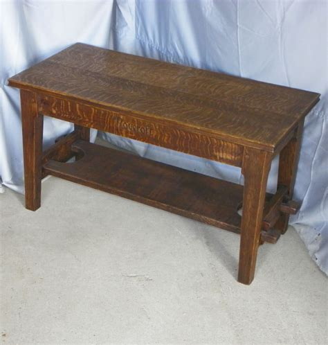 bargain john s antiques 187 blog archive antique mission oak bench made by roycroft