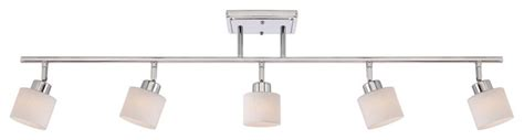 Track Lighting Bathroom Vanity Quoizel Pf1405c Pacifica 5 Light Track Lighting In Polished Chrome Contemporary Bathroom