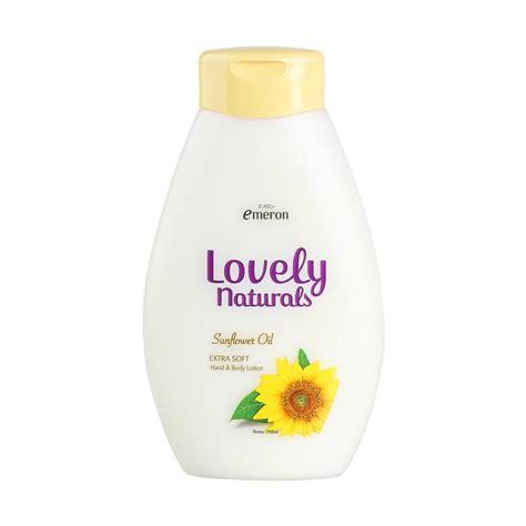 Lovely Handbody 250ml jual emeron lovely naturals sunflower lotion 250 ml harga kualitas