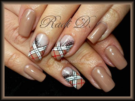 burberry pattern nails it s all about nails burberry and lace