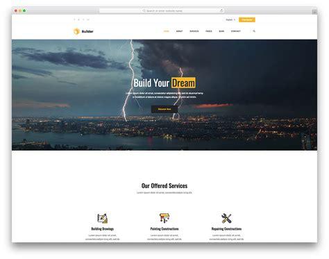 20 Best Free Construction Website Templates 2019 Colorlib Foundation Template Builder