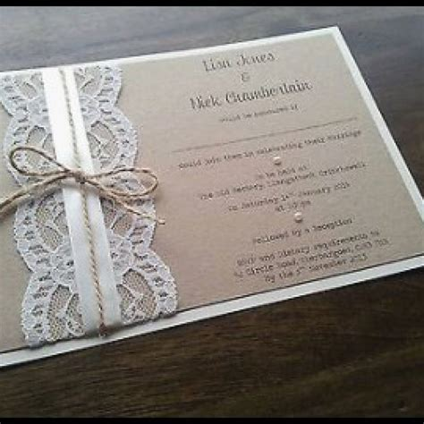 Ideas For Handmade Wedding Invitations - handmade wedding invitations new rustic invitation etsy uk