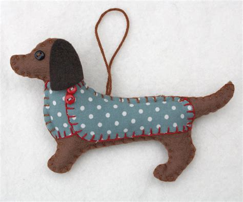 dachshund christmas ornament felt dog ornament felt
