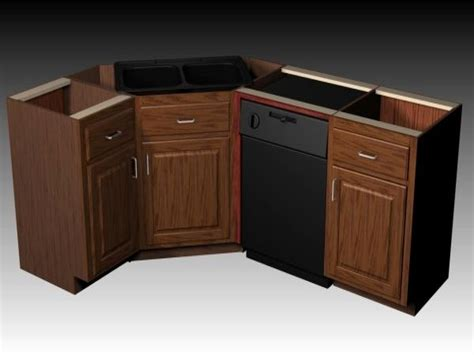 kitchen cabinet for corner sink