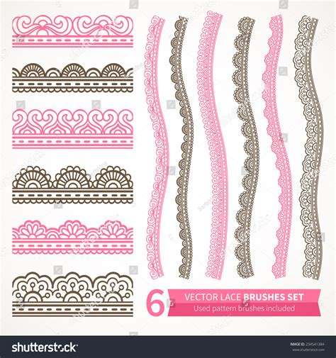 collection of 25 henna fashion ornamental seamless borders vector set abstract stock