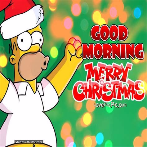 homer simpson good morning merry christmas quote pictures   images  facebook