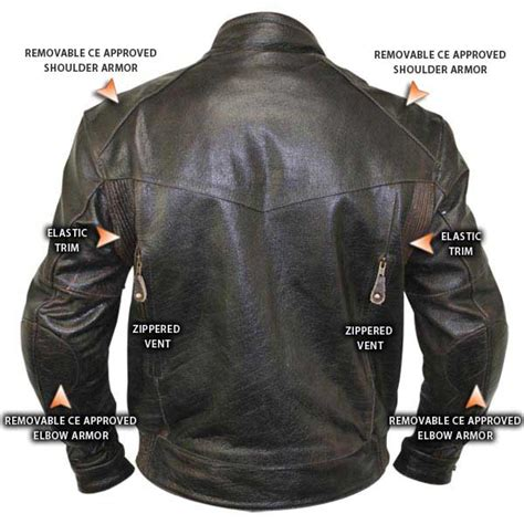 cruiser motorcycle jackets retro brown leather cruiser motorcycle jacket with armor