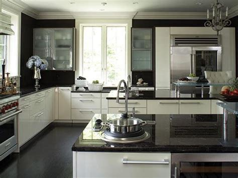 White Kitchen Cabinets With Black Granite Granite Countertops Hgtv