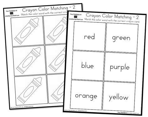 pattern matching spanish crayon color matching english spanish a to z teacher