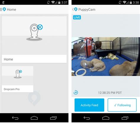 dropcam android app dropcam 2 6 for android gains new controls and location awareness mobilesyrup