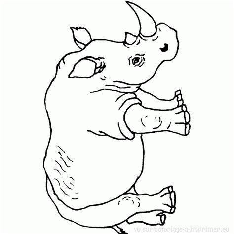 baby rhino coloring page 118 dessins de coloriage rhinoc 233 ros 224 imprimer
