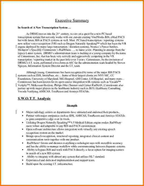 apa format executive summary template 9 executive summary template apa format financial