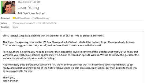 How We Produce The Ms Dev Show Podcast By Jason Young Trade Show Invitation Email Template