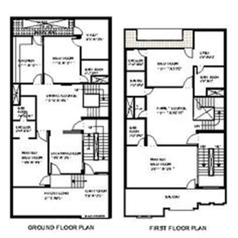 7 5 46 size houses map design house plan for 27 by 50 plot plot size 150