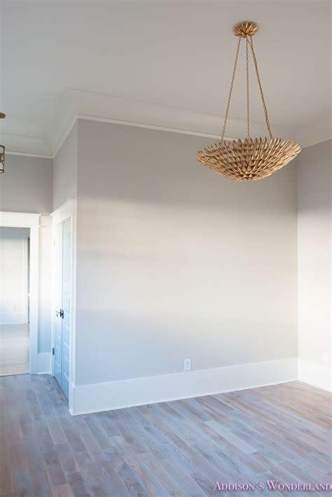 family room post construction reveal light grey