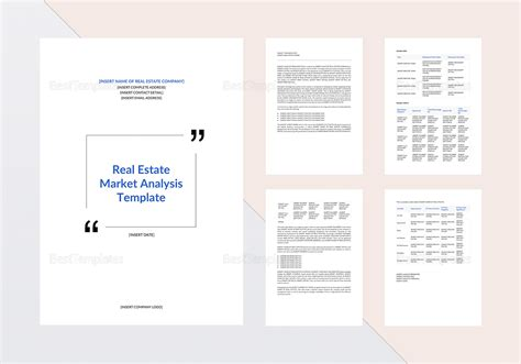 real estate templates for apple pages real estate market analysis template in word google docs