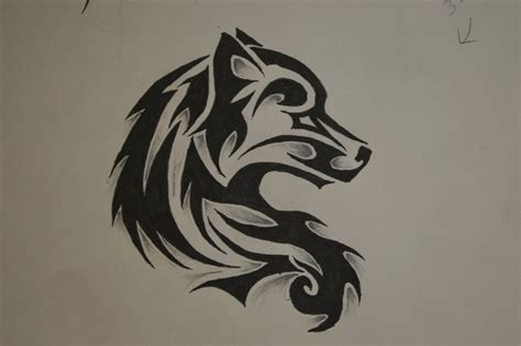 small tribal wolf tattoo tribal wolf by forever broken92 on deviantart