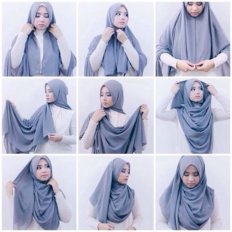 tutorial hijab simple segi empat best 25 hijab tutorial ideas on pinterest hijab style