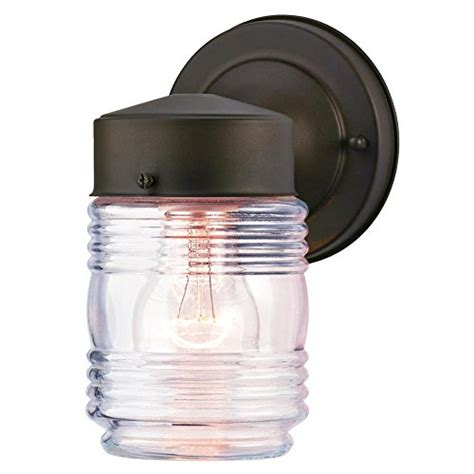 Jelly Jar Outdoor Light Fixture Westinghouse 6688200 One Light Outdoor Jelly Jar Wall Fixture With Clear Ribbed Glass