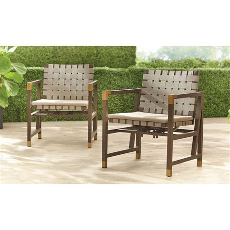 Brown Jordan Form Patio Motion Dining Chair In Sparrow 2 Brown And Patio Furniture