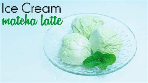cara membuat ice cream vanila lembut cara mudah membuat ice cream matcha latte youtube