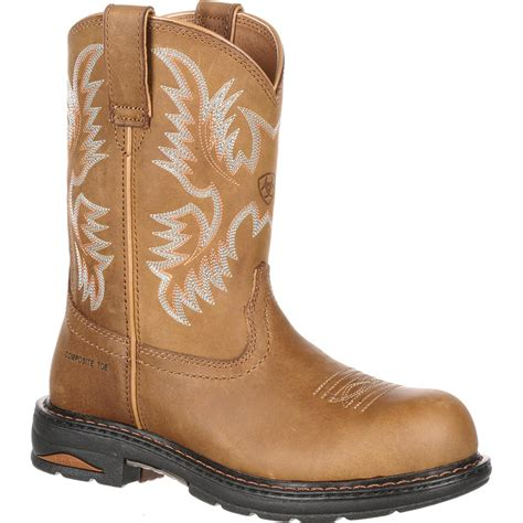 ariat steel toe boots womens s composite toe pull on work boots by ariat tracey
