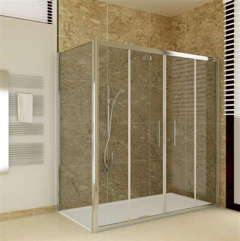 Shower Enclosure Sliding 6mm Glass Door Cubicle Screen Shower Tray And Door