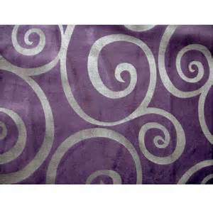 Silver Velvet Curtains Light Purple Circle Scrolls Velvet Fabric With By Fabricmart
