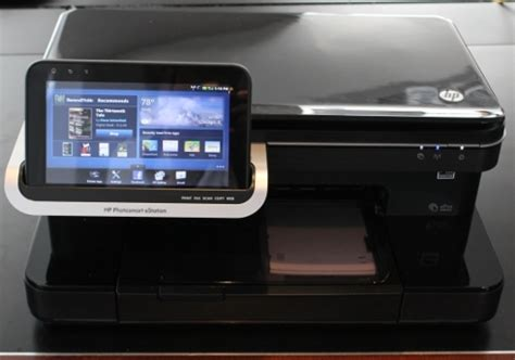 Printer Hp Android hp launches photosmart estation 399 printer with removable android tablet liliputing