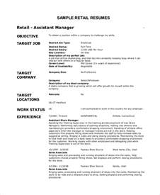 Resume Objective For Retail sle objective for resume 8 exles in pdf word