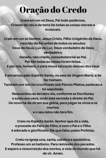 #Oração do #Credo   Oração, Orações católicas, Orações