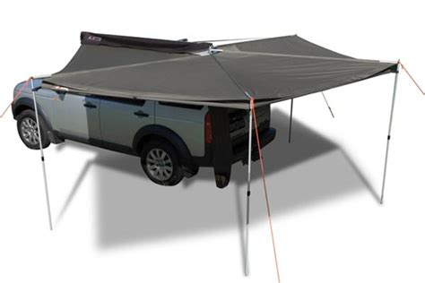 car roof awning rhino rack foxwing awning free shipping from autoanything