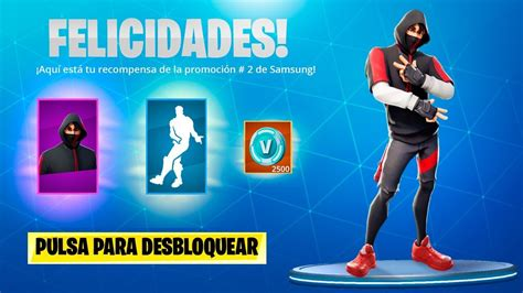 nueva skin exclusiva de samsung  ikonik  fortnite