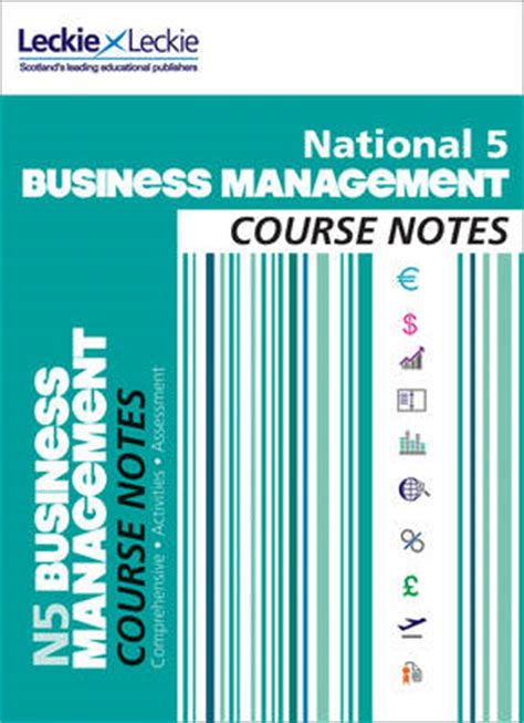 national 5 business management course notes by lee coutts leckie leckie waterstones
