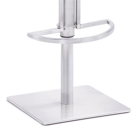 Stainless Steel Bar Stools Swivel by Low Back Adjustable Swivel Stainless Steel Bar Stool With