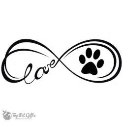 Paw Print Infinity Infinity Paw Decal Top Pet Gifts