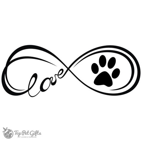 infinity paw decal top pet gifts