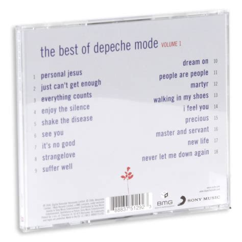 depeche mode best of volume 1 the best of depeche mode volume 1 depeche mode muzyka