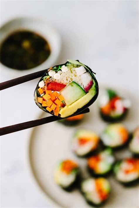 raw vegan sushi rolls  simple veganista