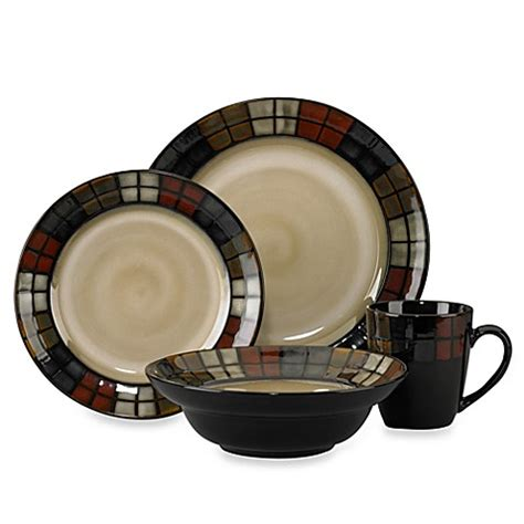 bed bath and beyond dish sets pfaltzgraff 174 calico 16 piece dinnerware set bed bath