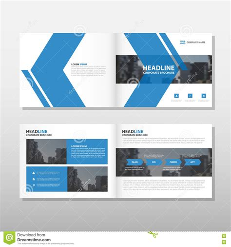 leaflet page layout blue vector annual report leaflet brochure flyer template