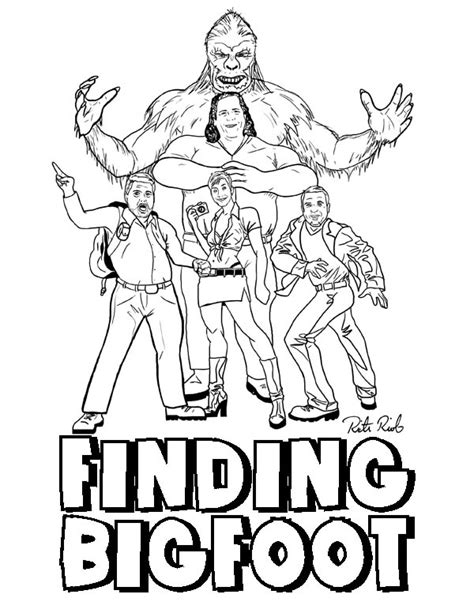 bigfoot coloring pages to print coloring pages